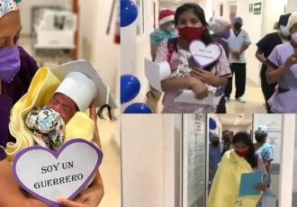 Dan de alta a bebé prematuro, luego de permanecer tres meses hospitalizado en Tapachula, Chiapas